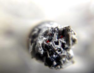Entspannung durch THC - Zigarettenkopf